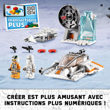 75268 SNOWSPEEDER ET SPEEDER BIKE LEGO STAR WARS