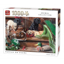 PUZZLE 1000 PIECES CHIOTS ANIMAL COLLECTION