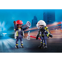 70081 DUO POMPIERS CITY LIFE PLAYMOBIL