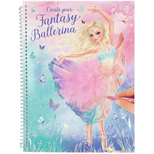 ALBUM DE COLORIAGE FANTASY BALLERINA TOP MODEL