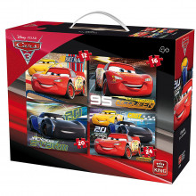 MALETTE 4 PUZZLES CARS