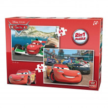 2 PUZZLES CARS